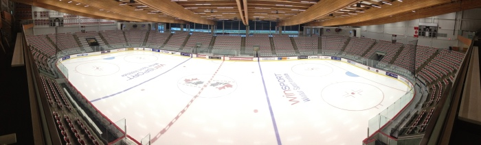 Olympic ice hockey training arena is where we had the team presentation for Alberta.